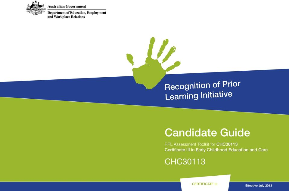 CHC30113 Certificate III in Early Childhood