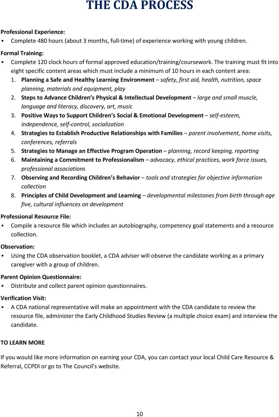 child care competency statements Competency statements- six goals agency which regulates child care centers in our state  to ensure a well-run, purposeful program responsive to participant needs.