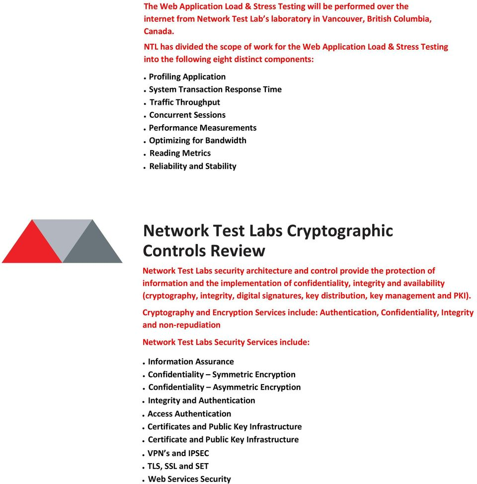 Concurrent Sessions Performance Measurements Optimizing for Bandwidth Reading Metrics Reliability and Stability Network Test Labs Cryptographic Controls Review Network Test Labs security architecture