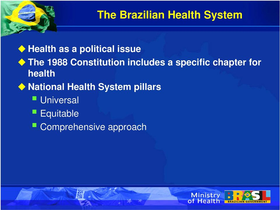 a specific chapter for health National Health
