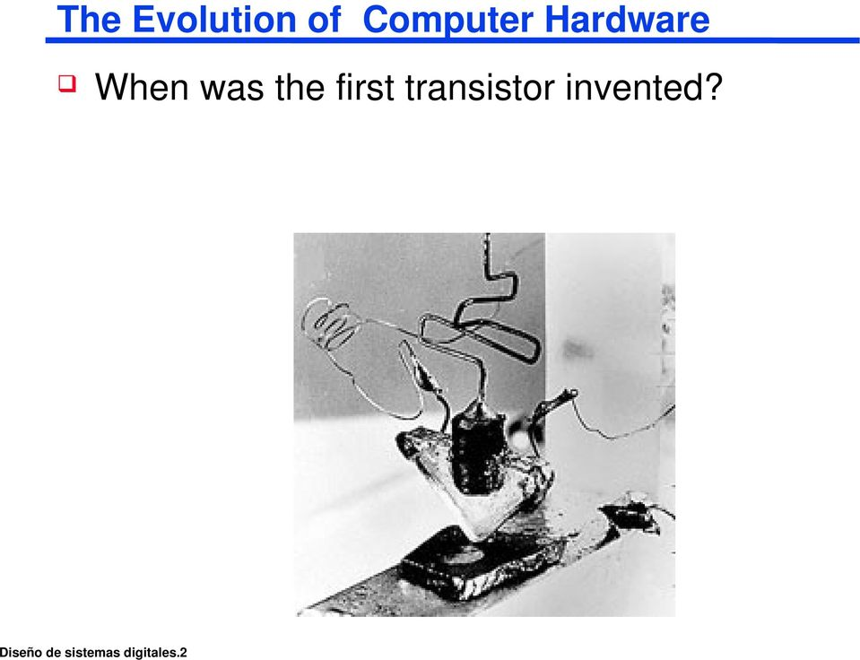 first transistor invented?