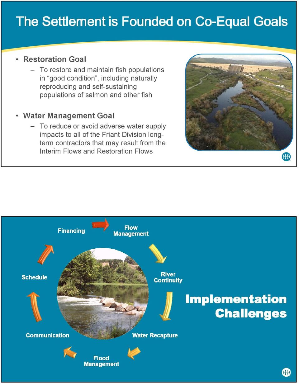 Management Goal To reduce or avoid adverse water supply impacts to all of the Friant