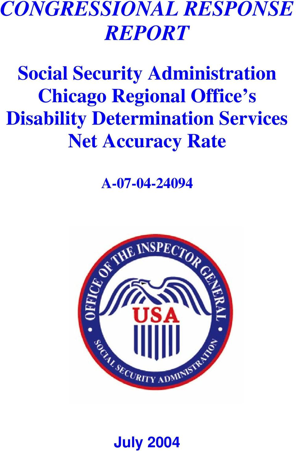 Office s Disability Determination