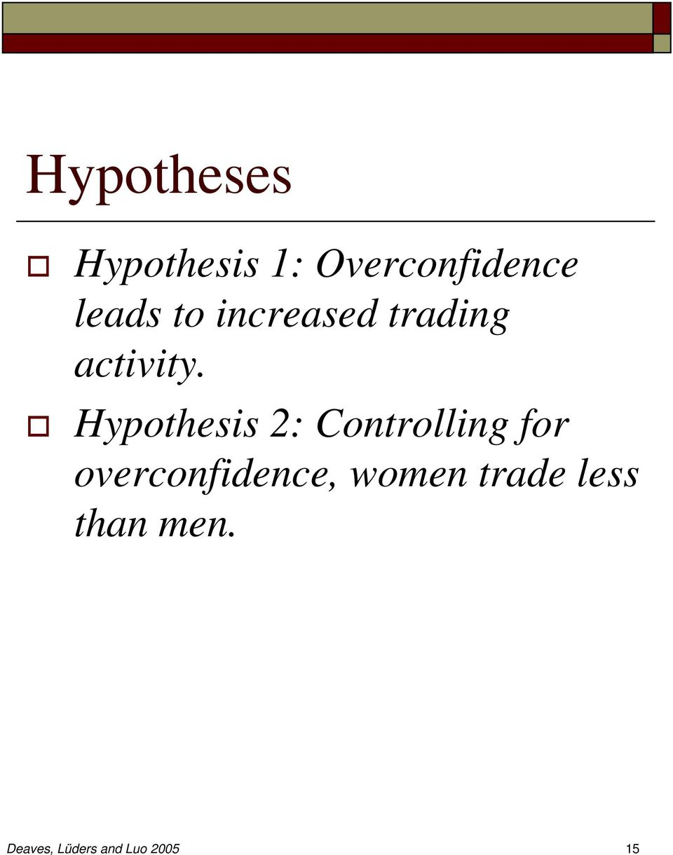 Hypothesis 2: Controlling for