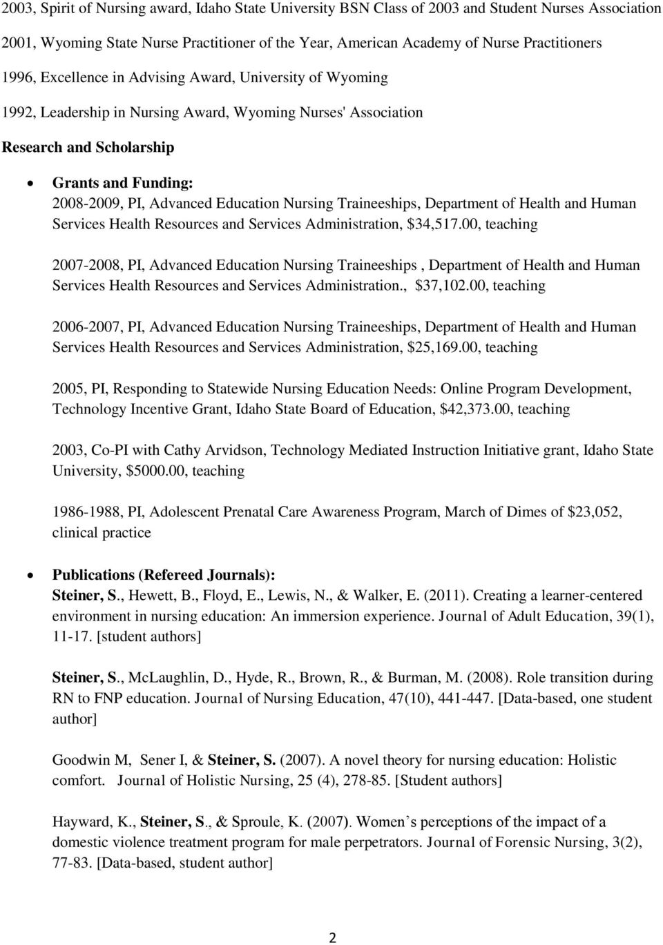 Nursing Traineeships, Department of Health and Human Services Health Resources and Services Administration, $4,517.