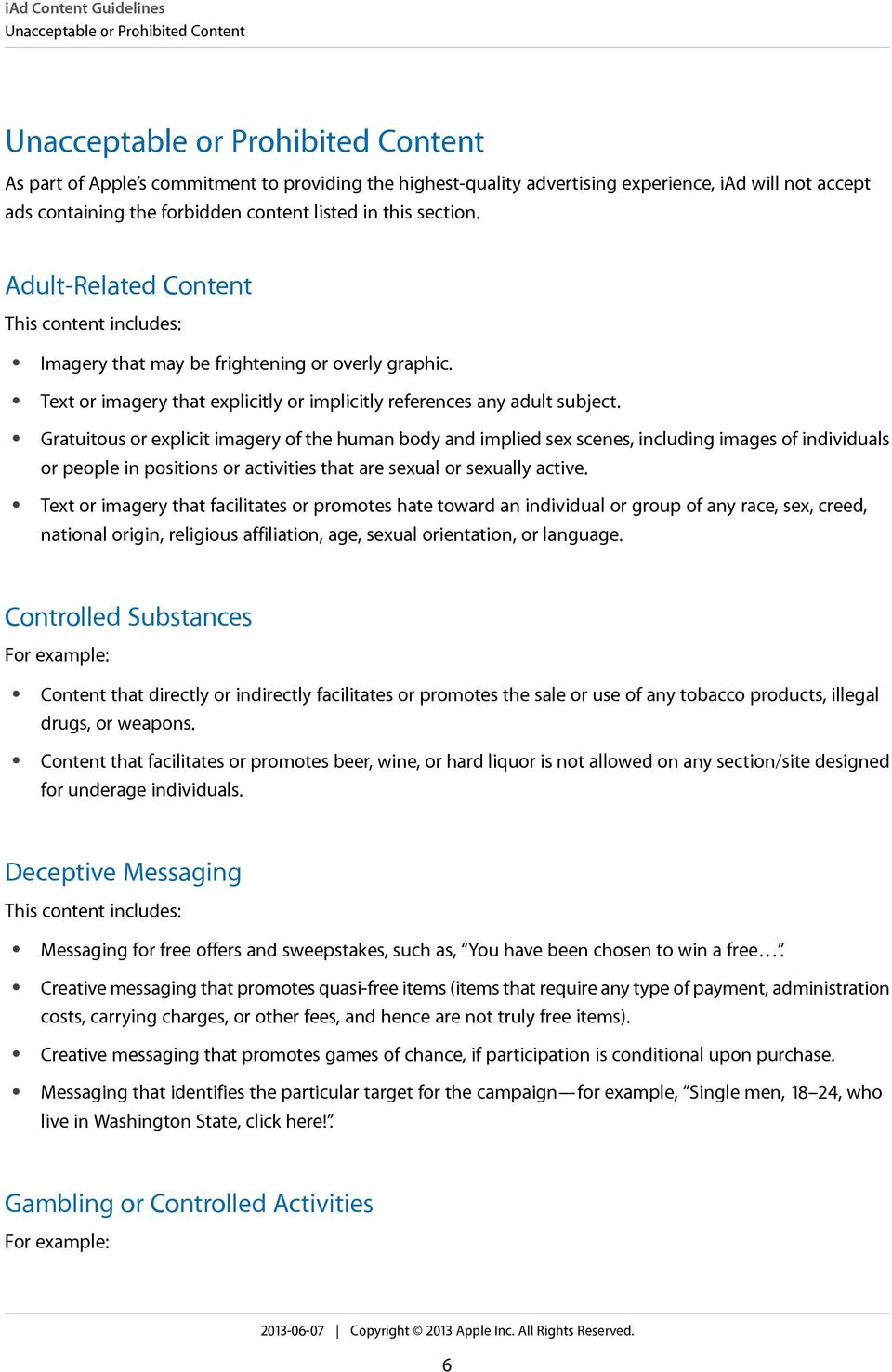 Text or imagery that explicitly or implicitly references any adult subject.
