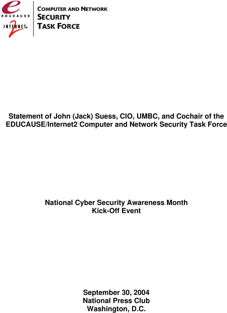 Force National Cyber Security Awareness Month Kick-Off