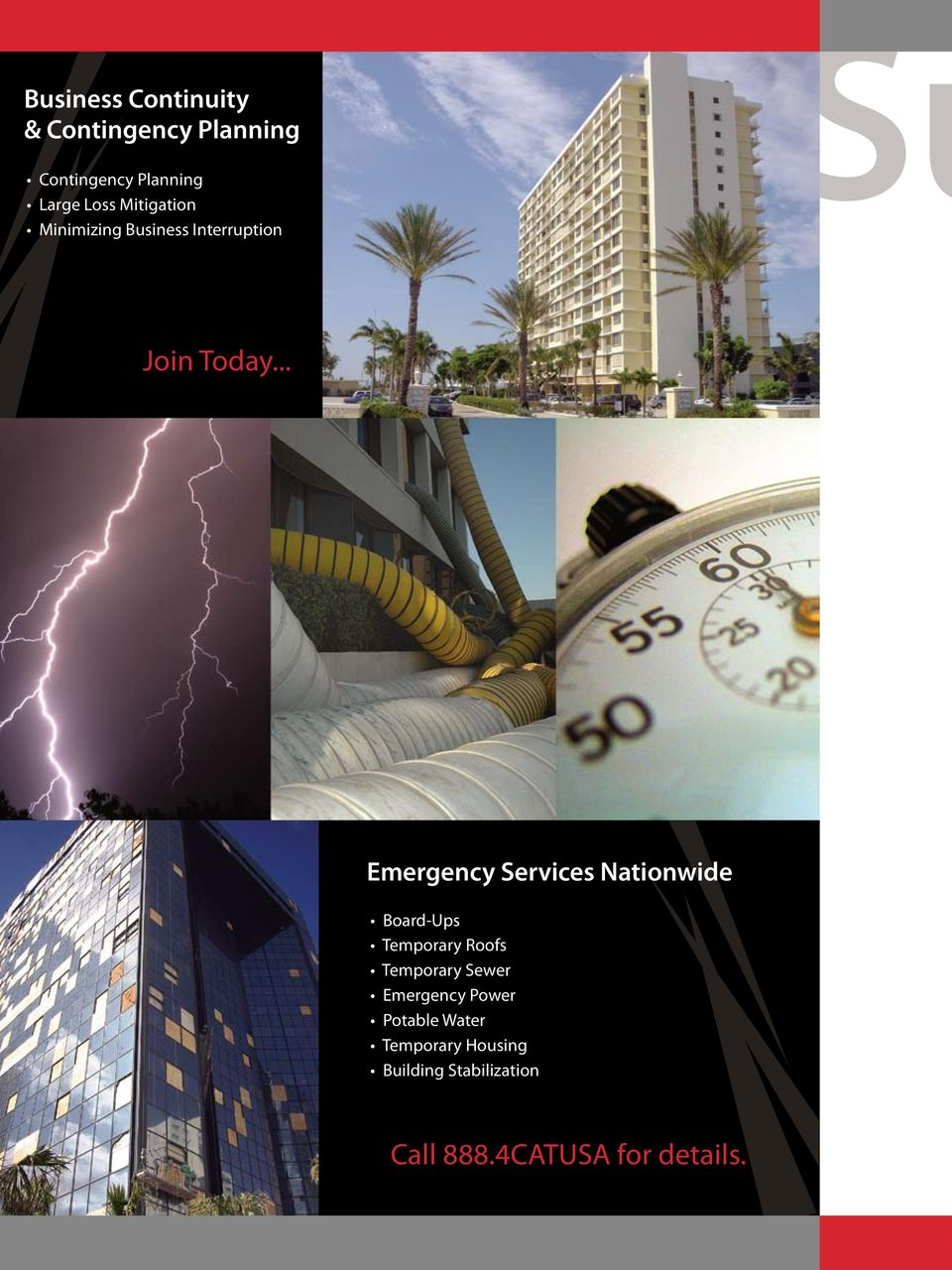 .. Emergency Services Nationwide Board-Ups Temporary Roofs Temporary Sewer