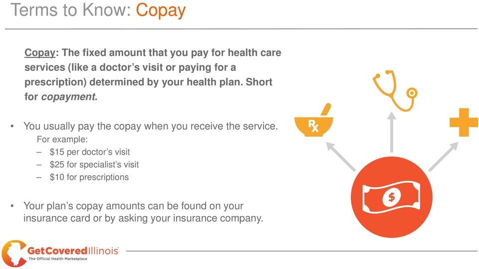 You usually pay the copay when you receive the service.
