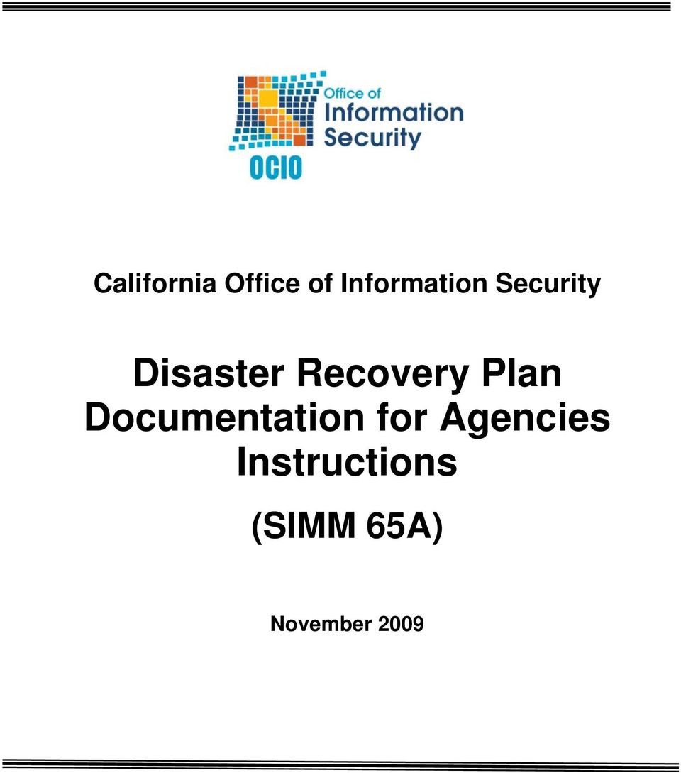 Recovery Plan Documentation