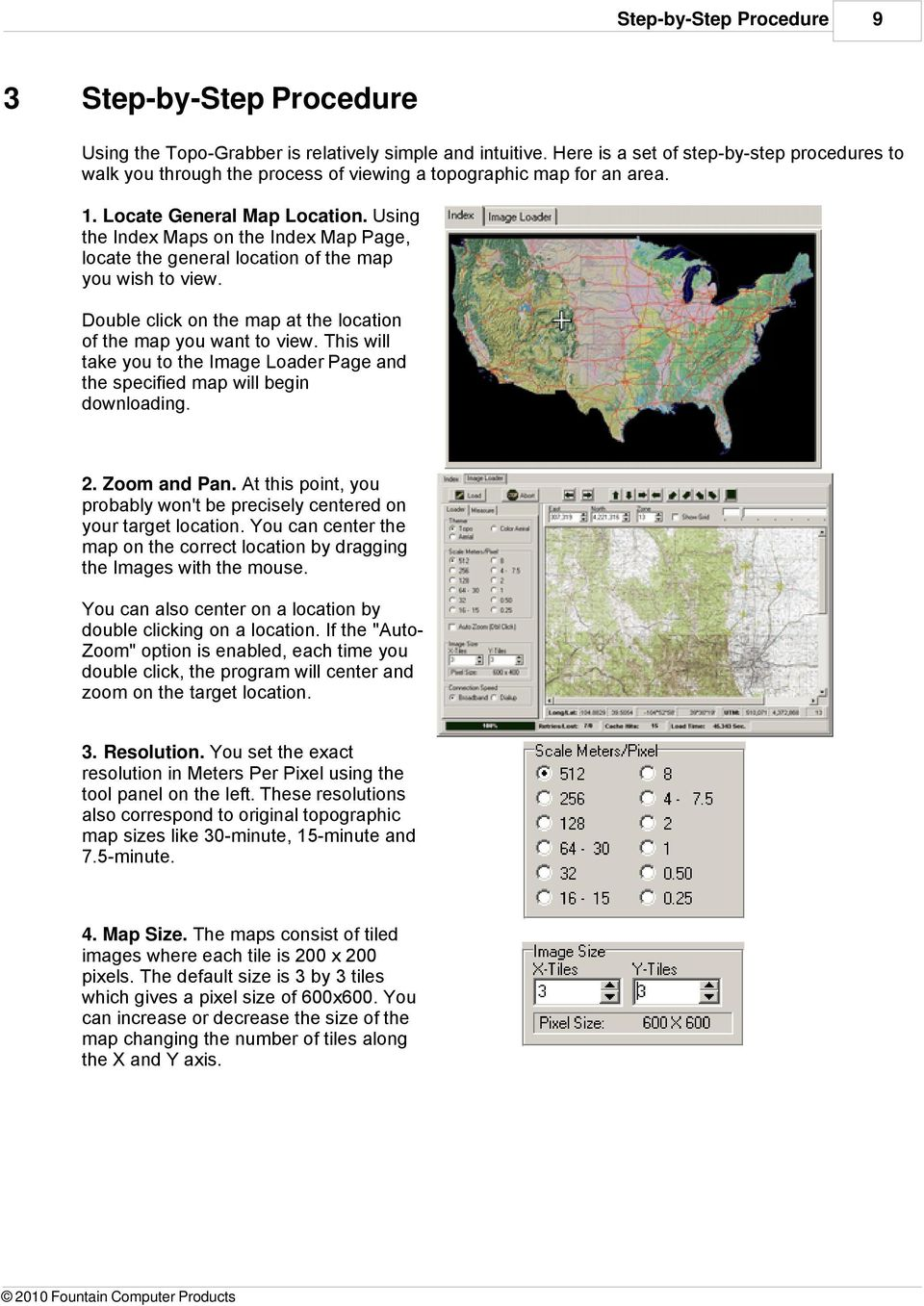 Using the Index Maps on the Index Map Page, locate the general location of the map you wish to view. Double click on the map at the location of the map you want to view.
