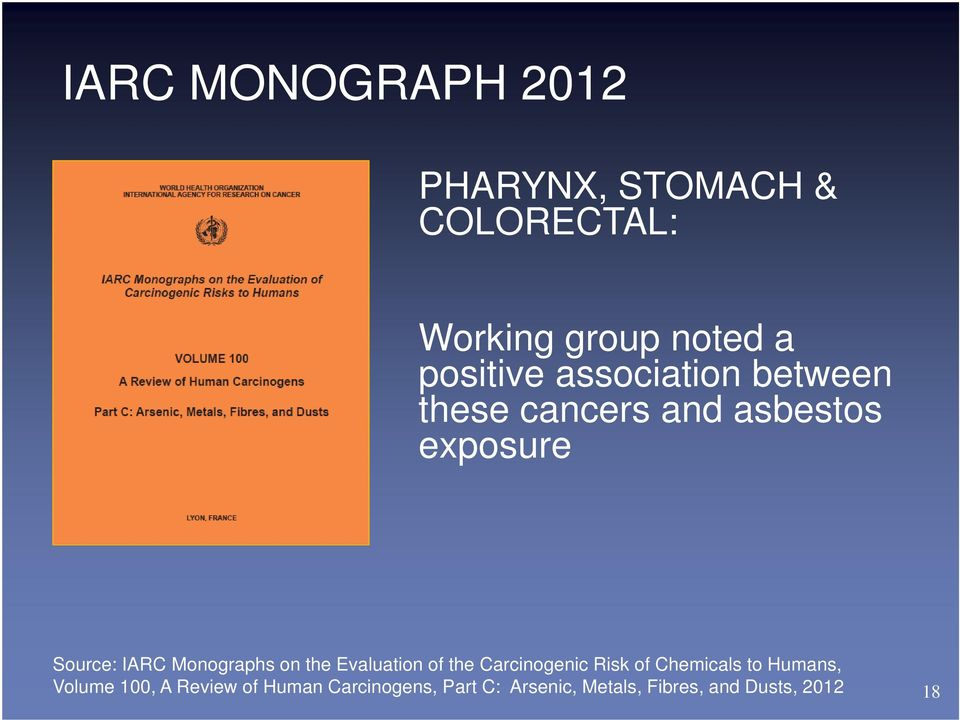 Monographs on the Evaluation of the Carcinogenic Risk of Chemicals to Humans,