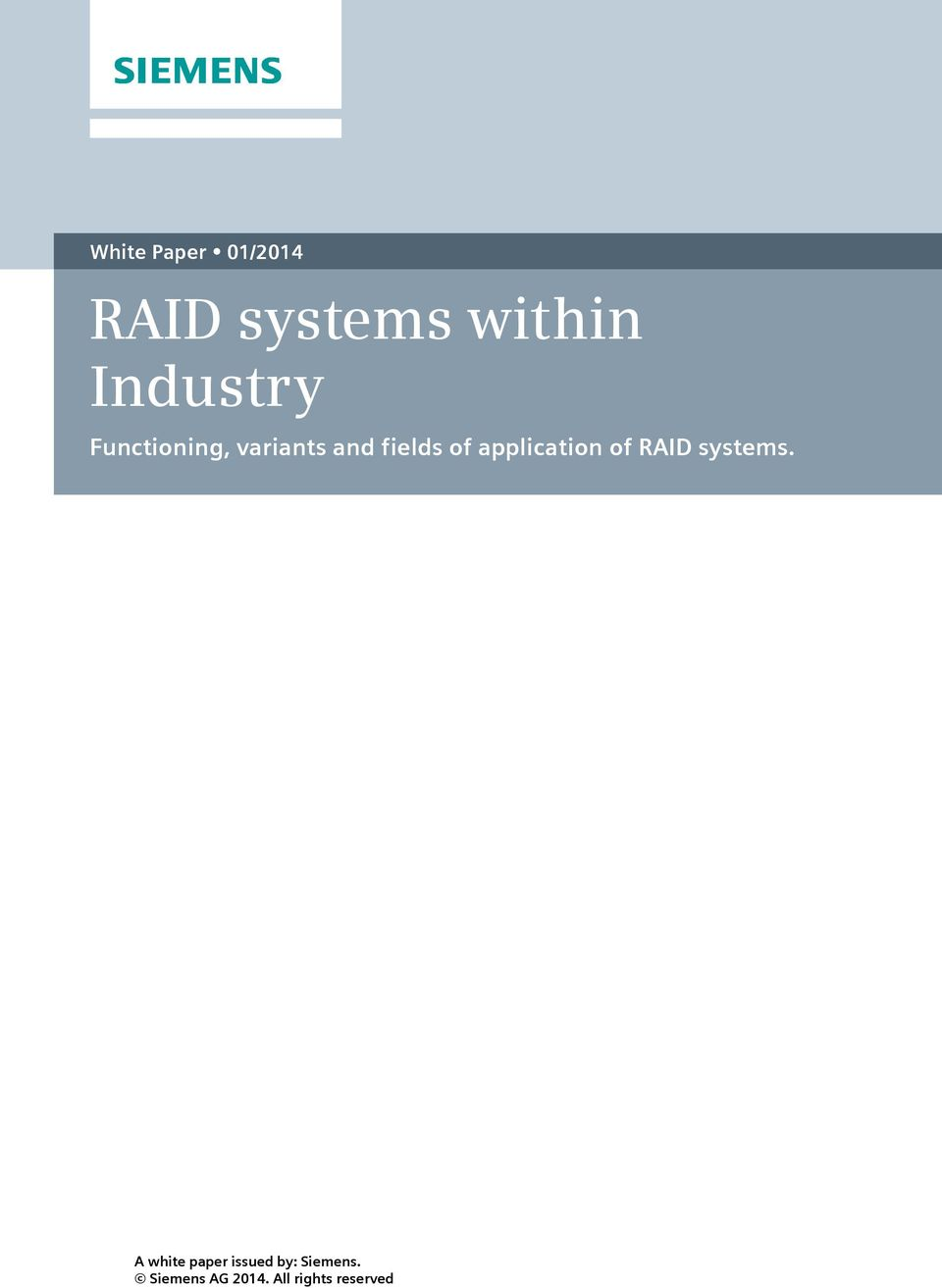 application of RAID systems.