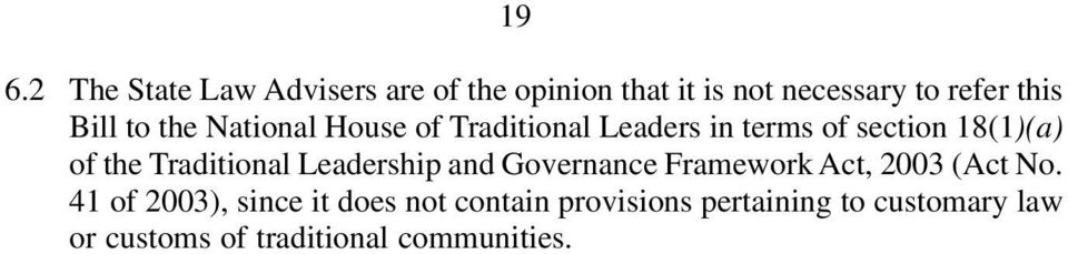 Traditional Leadership and Governance Framework Act, 03 (Act No.