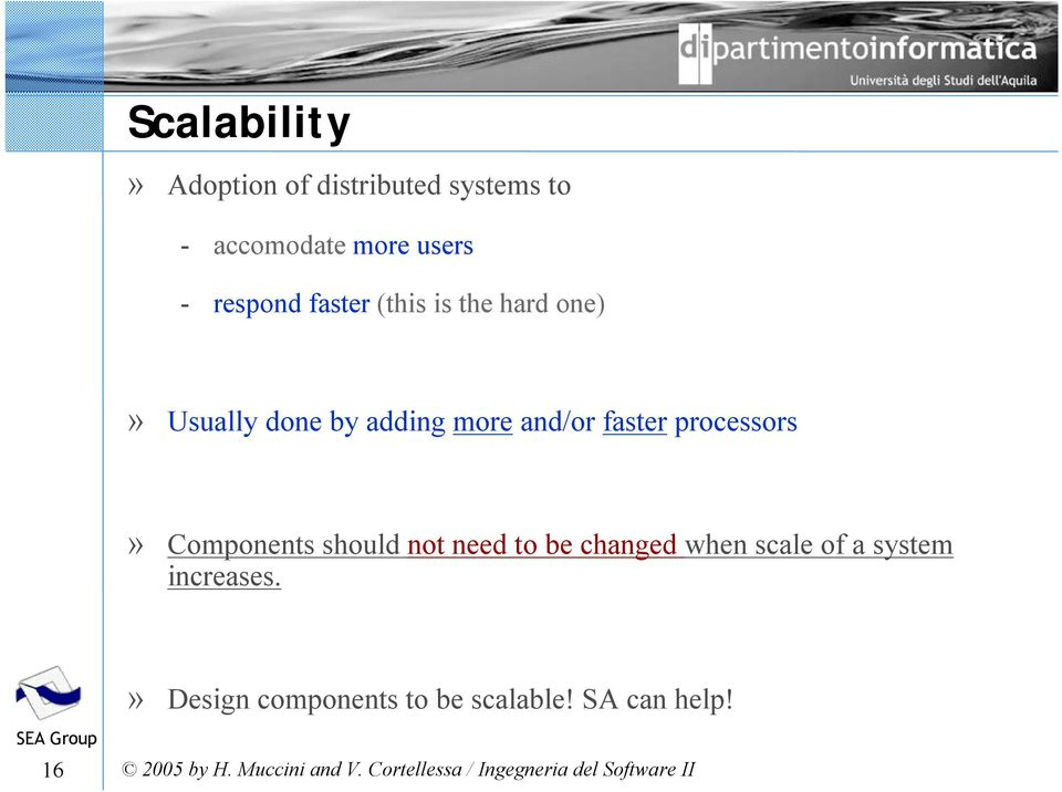 and/or faster processors» Components should not need to be changed when