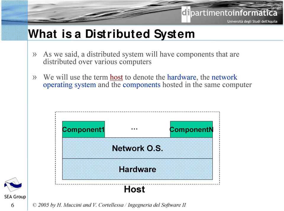 host to denote the hardware, the network operating system and the components