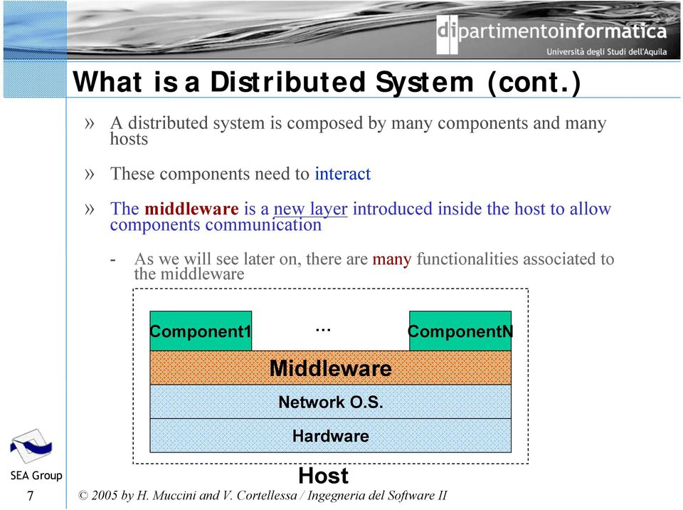 to interact» The middleware is a new layer introduced inside the host to allow components