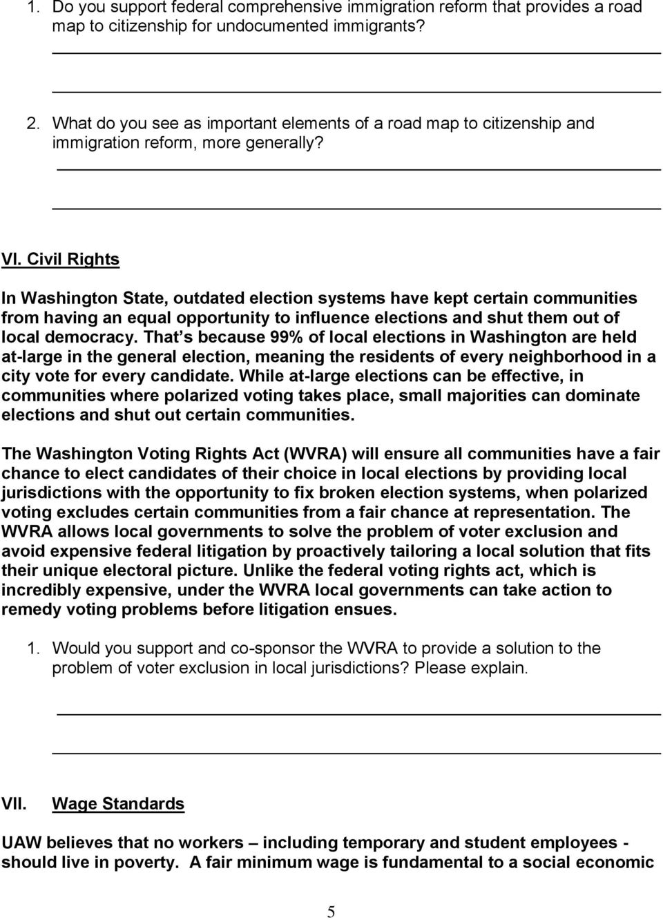 Civil Rights In Washington State, outdated election systems have kept certain communities from having an equal opportunity to influence elections and shut them out of local democracy.