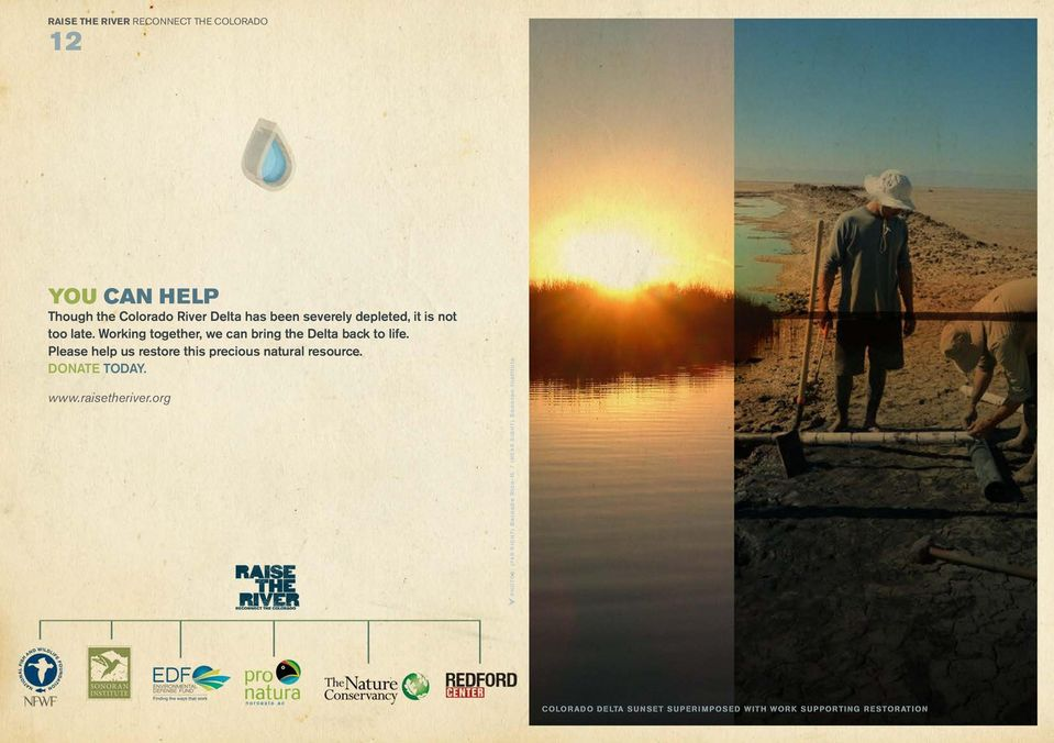 Please help us restore this precious natural resource. DONATE TODAY. www.raisetheriver.