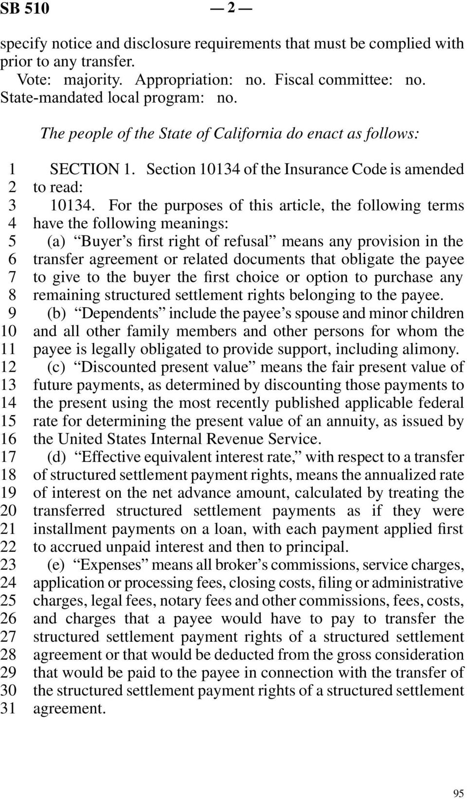 For the purposes of this article, the following terms have the following meanings: (a) Buyer s first right of refusal means any provision in the transfer agreement or related documents that obligate