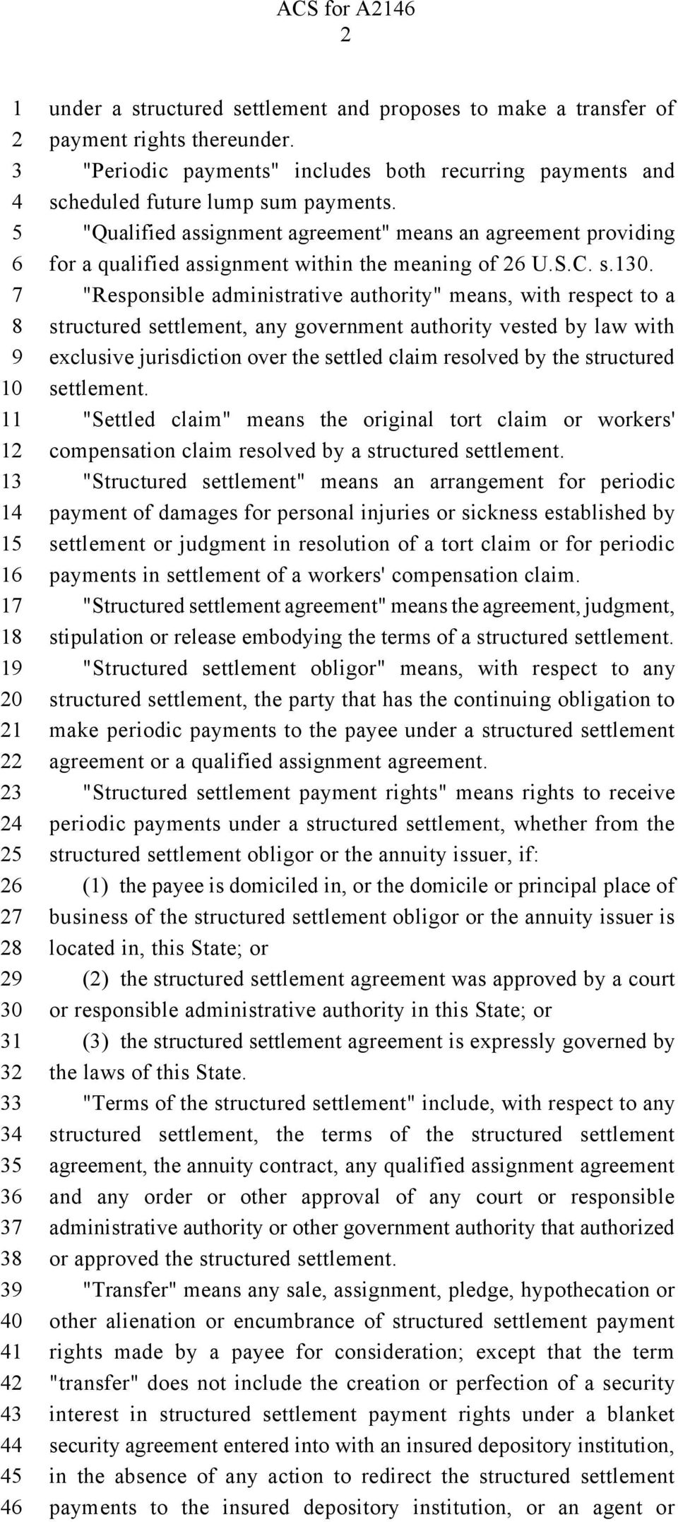 """Qualified assignment agreement"" means an agreement providing for a qualified assignment within the meaning of U.S.C. s.0."