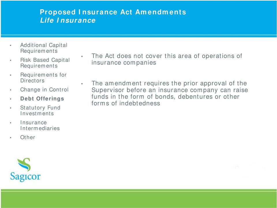prior approval of the Supervisor before an insurance company can