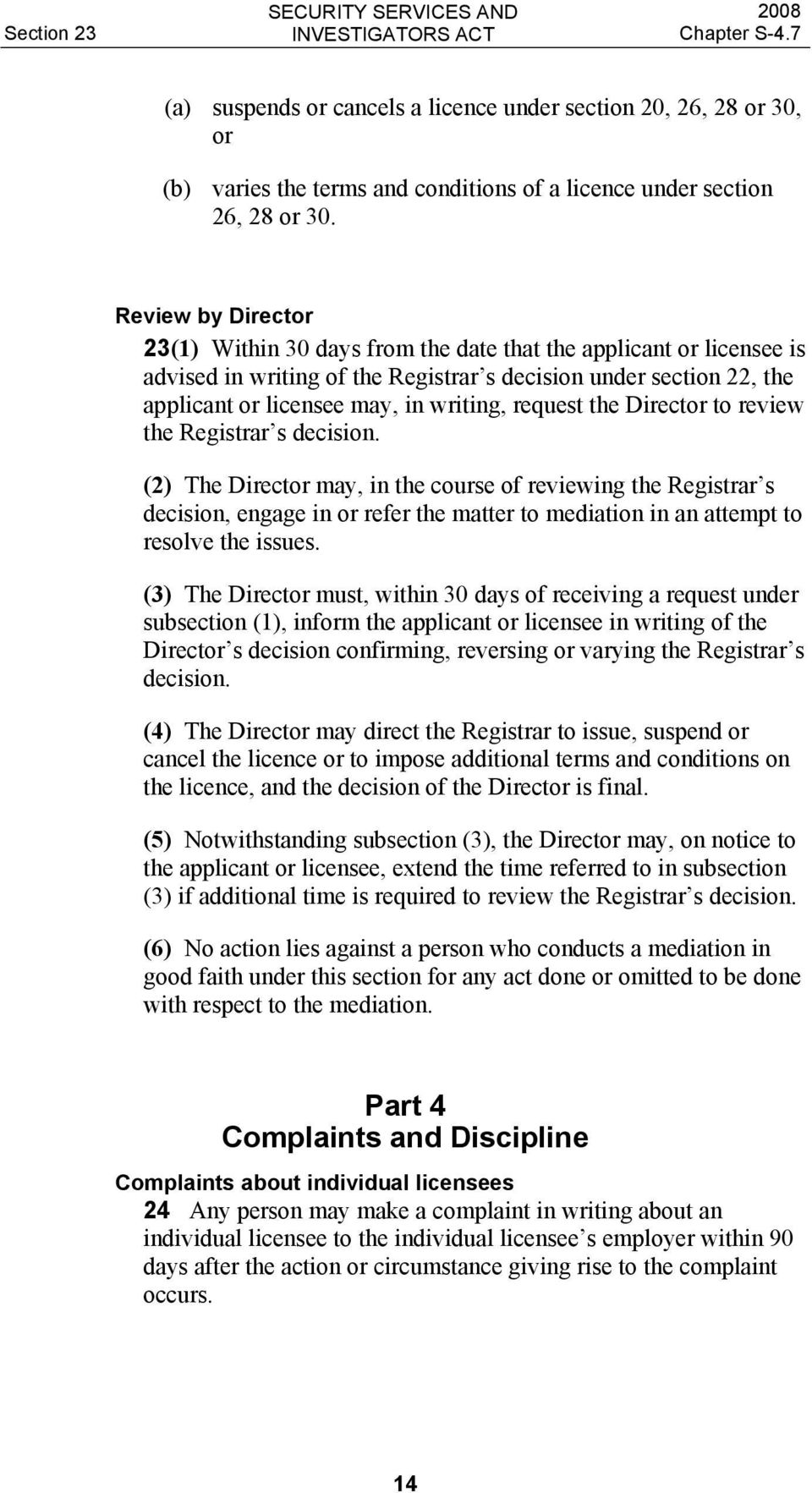 request the Director to review the Registrar s decision.