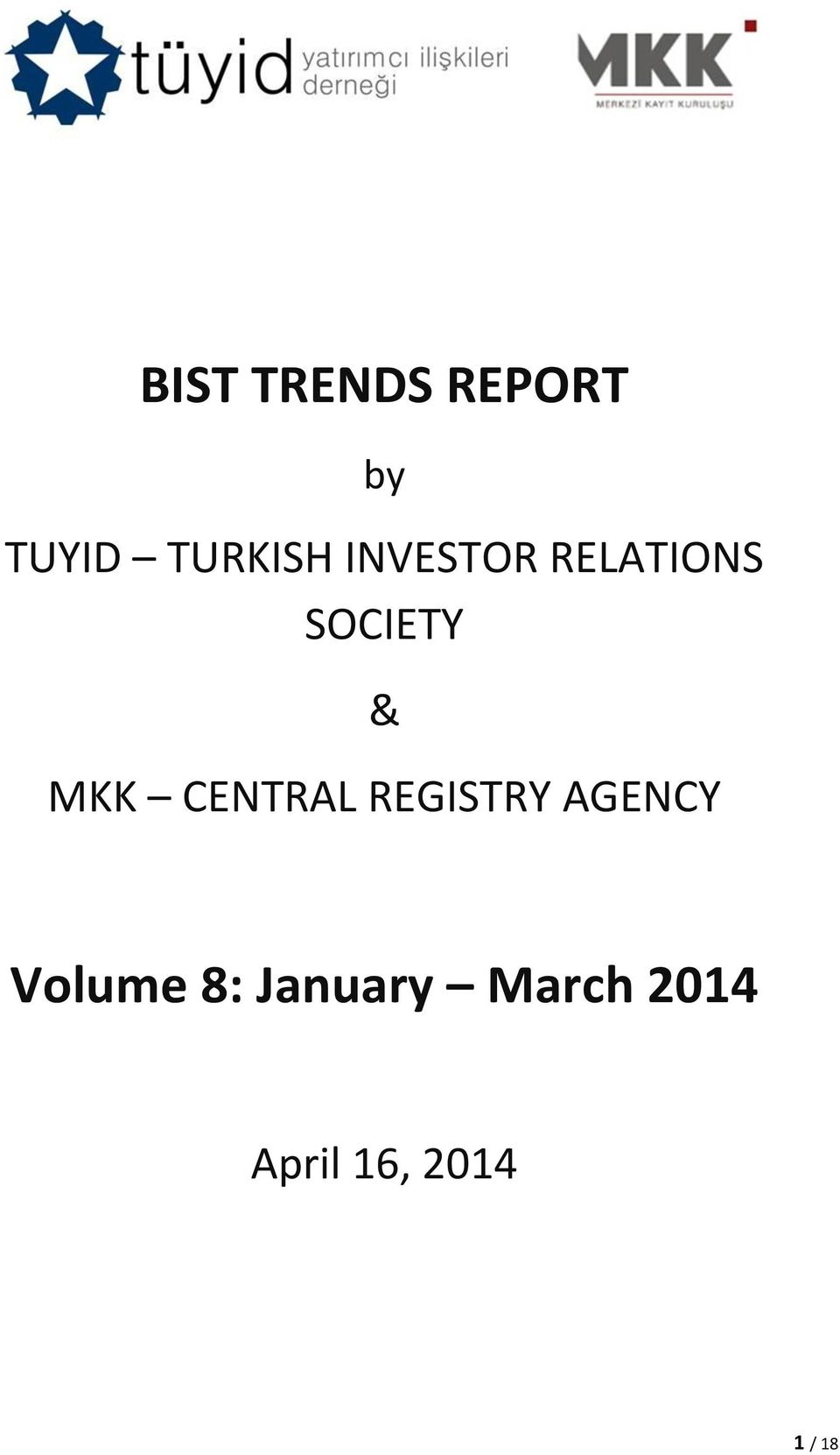 CENTRAL REGISTRY AGENCY Volume 8: