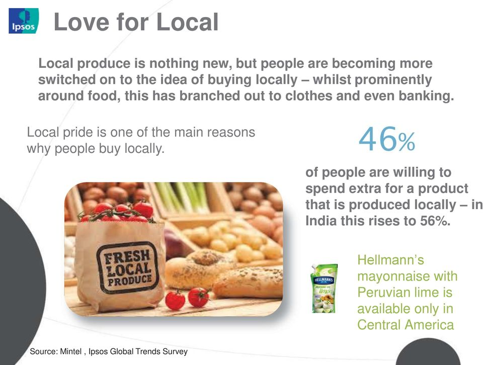 Local pride is one of the main reasons why people buy locally.