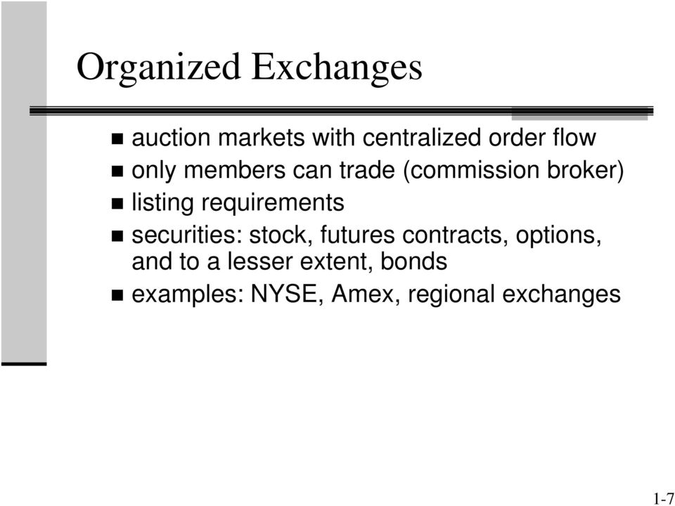 requirements securities: stock, futures contracts, options,