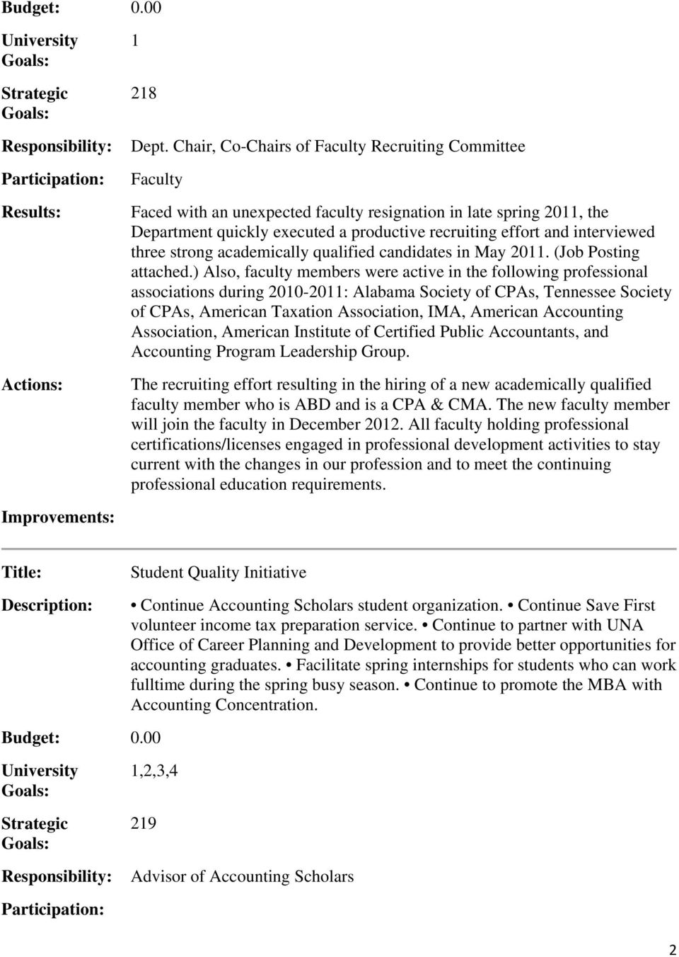 interviewed three strong academically qualified candidates in May 2011. (Job Posting attached.