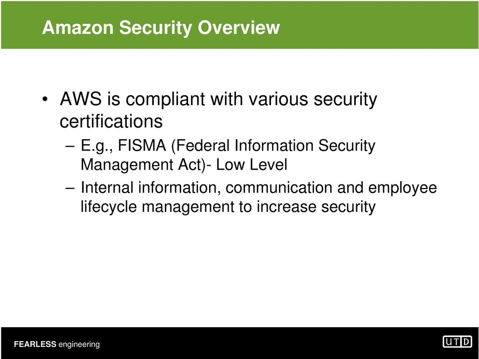 , FISMA (Federal Information Security Management Act)- Low