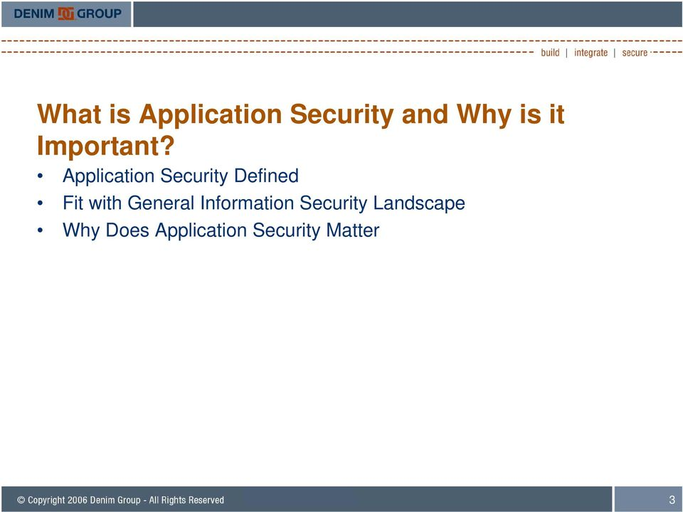 Application Security Defined Fit with
