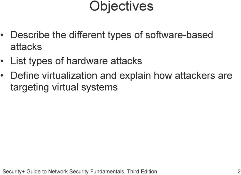 hardware attacks Define virtualization and