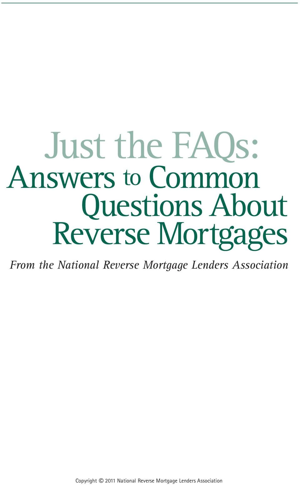 Reverse Mortgage Lenders Association
