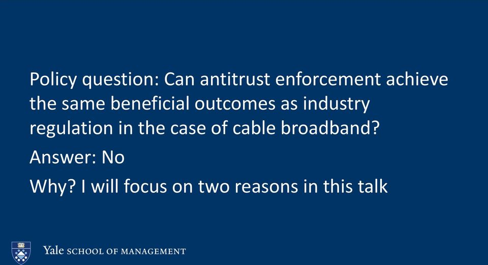 industry regulation in the case of cable