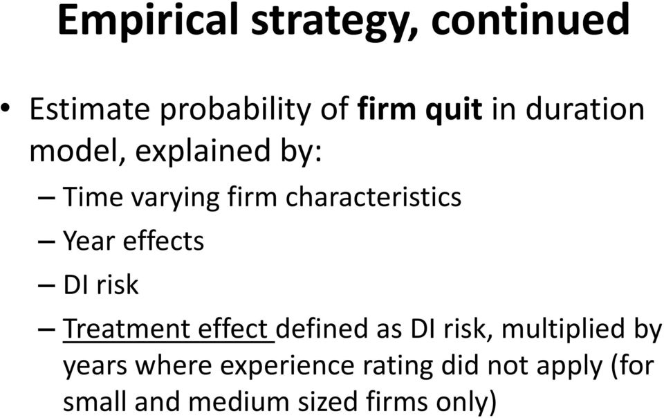 effects DI risk Treatment effect defined as DI risk, multiplied by
