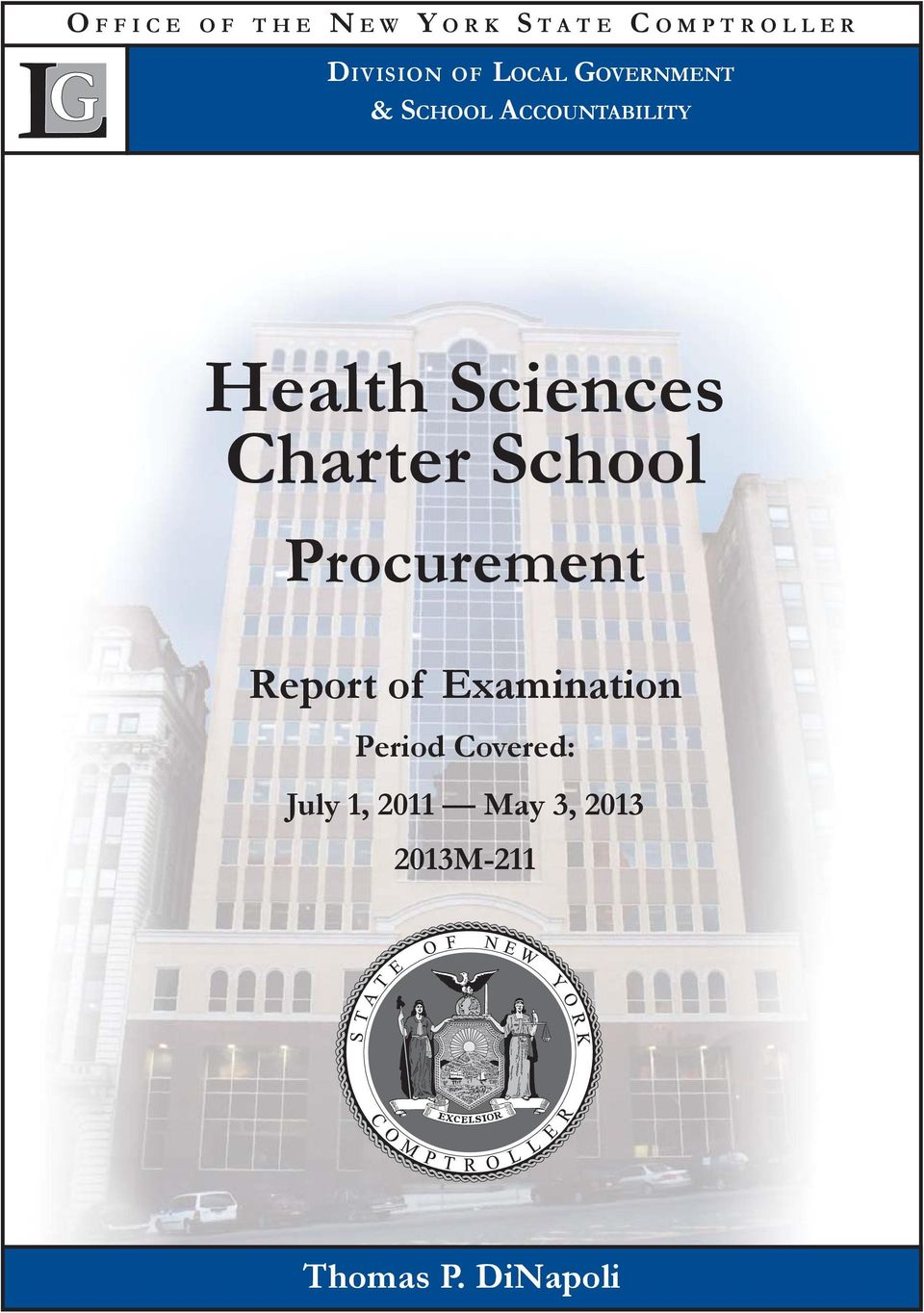 Charter School Procurement Report of Examination Period