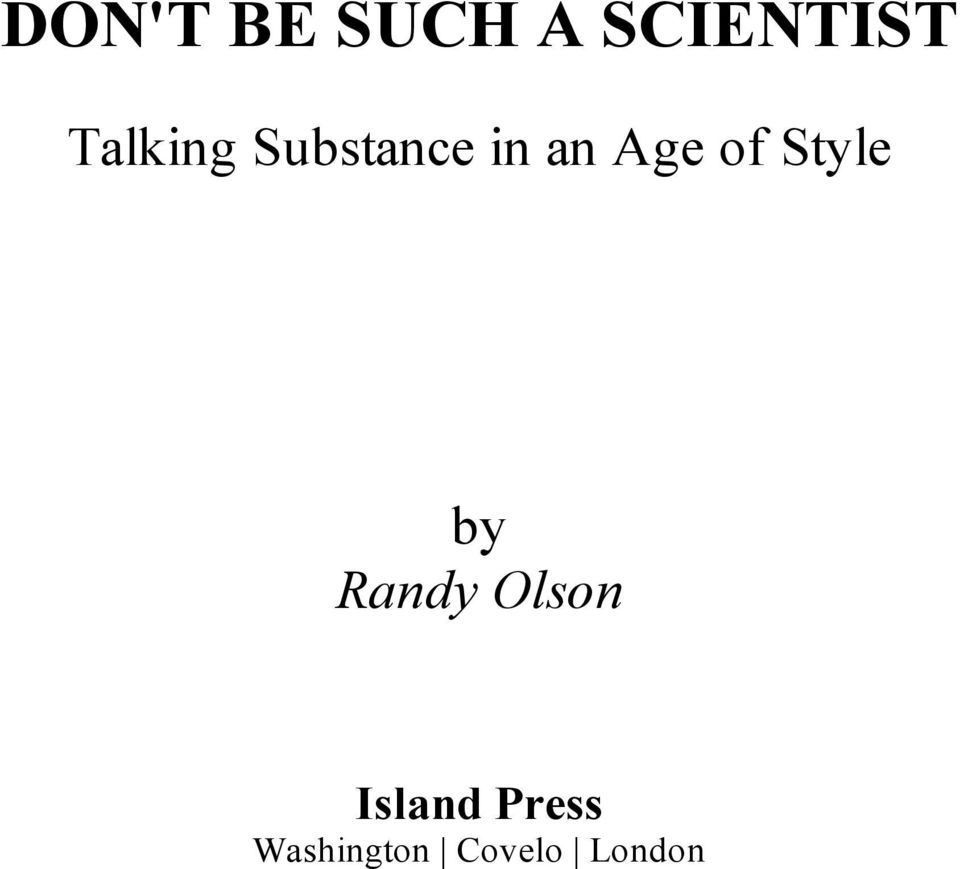 of Style by Randy Olson
