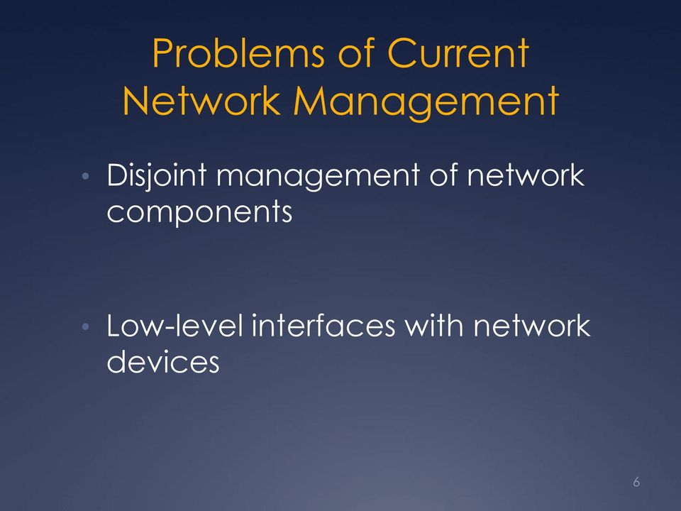 of network components