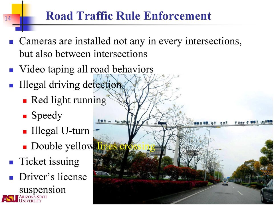 behaviors Illegal driving detection Red light running Speedy Illegal