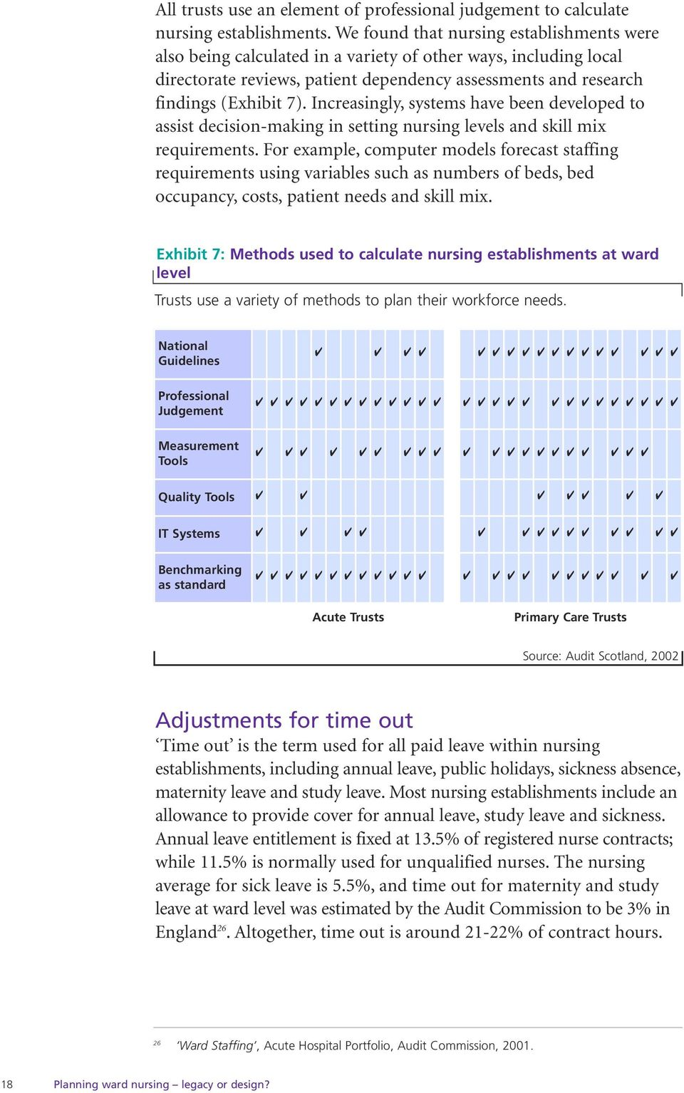 Increasingly, systems have been developed to assist decision-making in setting nursing levels and skill mix requirements.