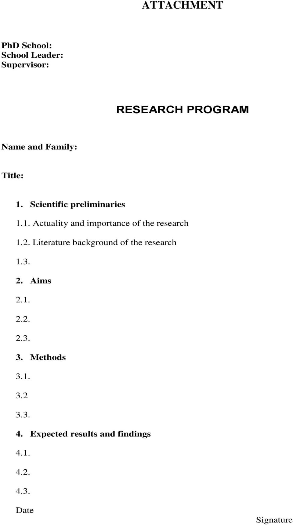2. Literature background of the research 1.3. 2. Aims 2.1. 2.2. 2.3. 3.