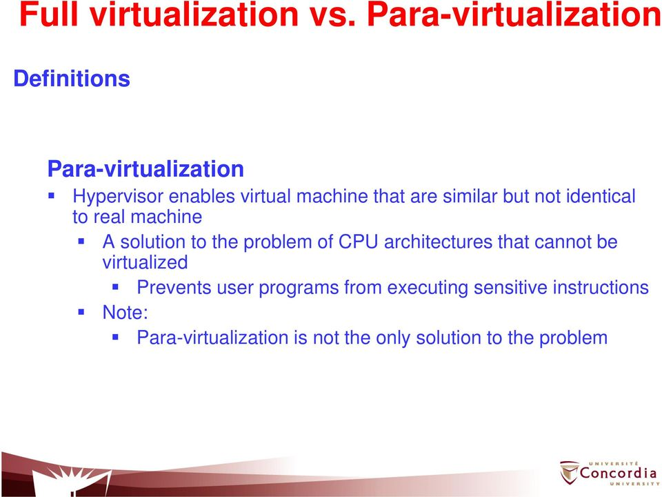 that are similar but not identical to real machine A solution to the problem of CPU