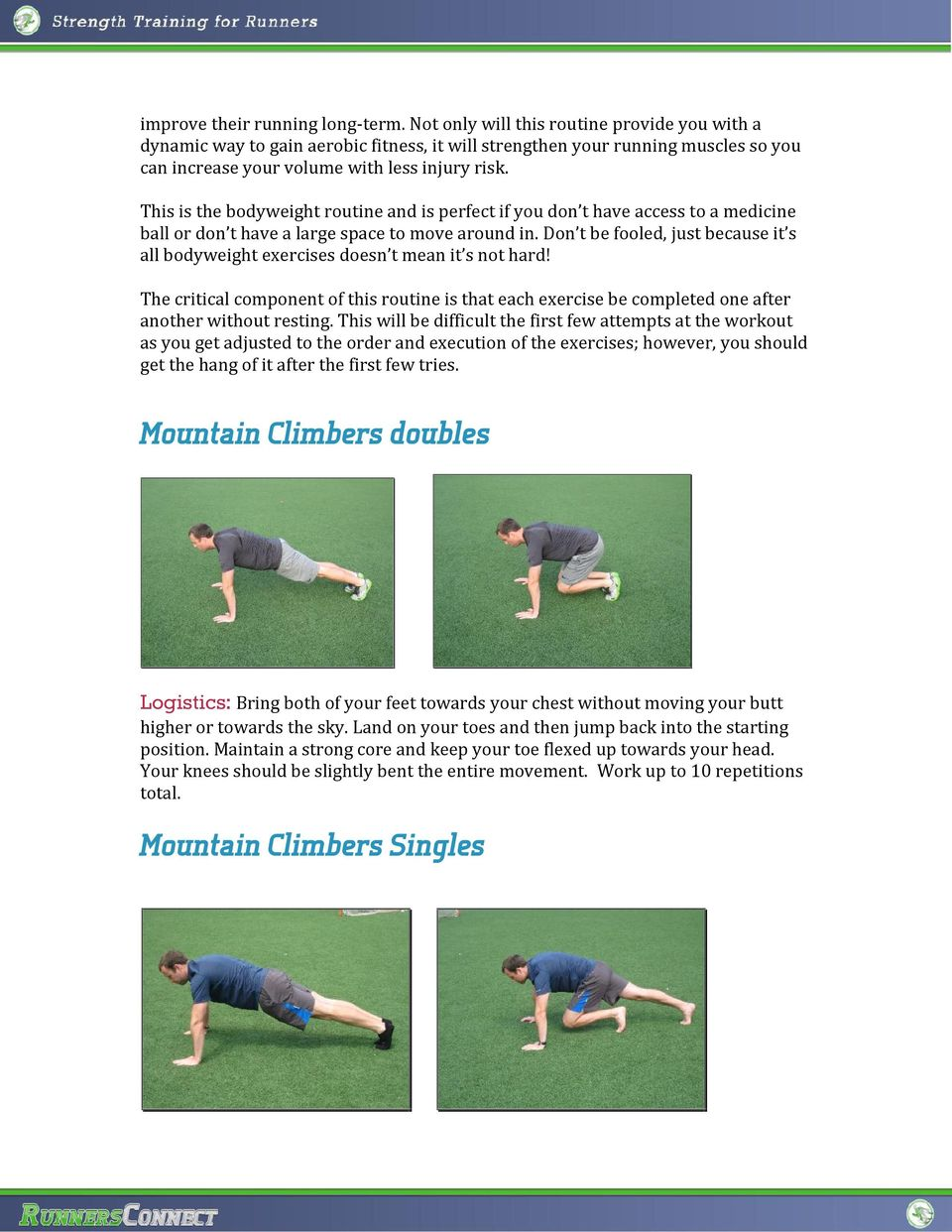 This is the bodyweight routine and is perfect if you don t have access to a medicine ball or don t have a large space to move around in.