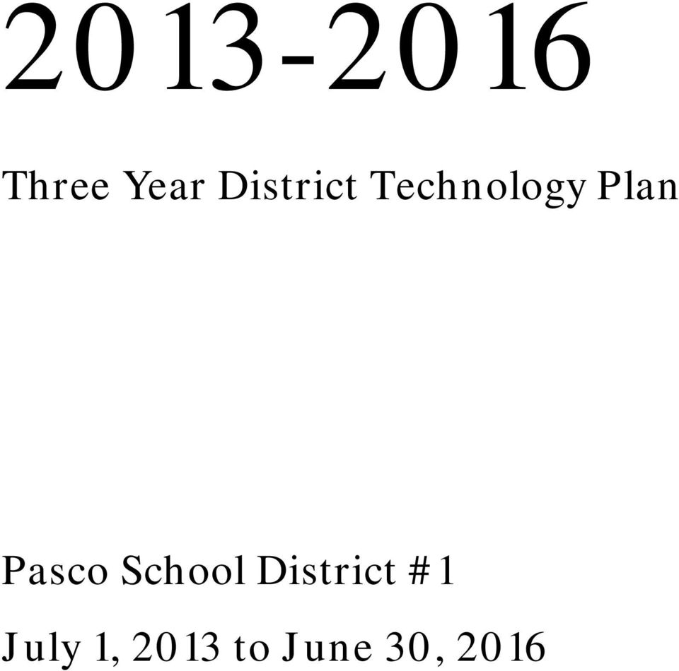 Pasco School District #1