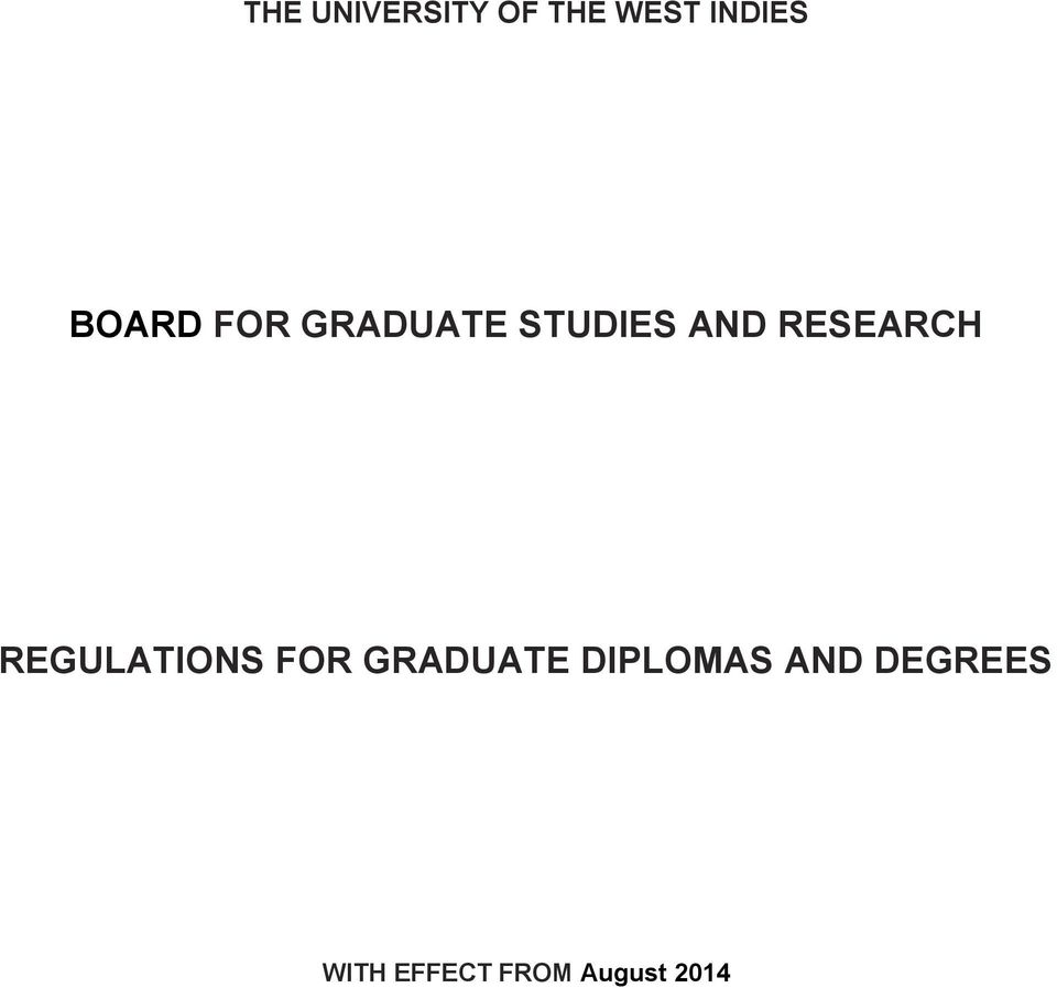 RESEARCH REGULATIONS FOR GRADUATE