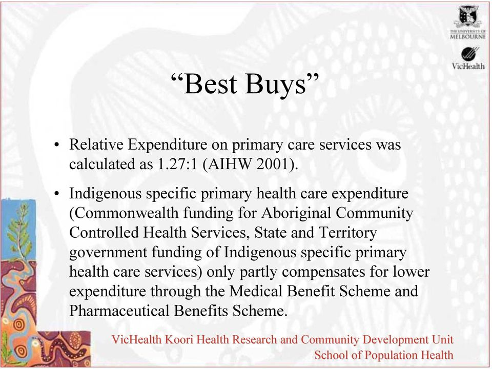 Controlled Health Services, State and Territory government funding of Indigenous specific primary health