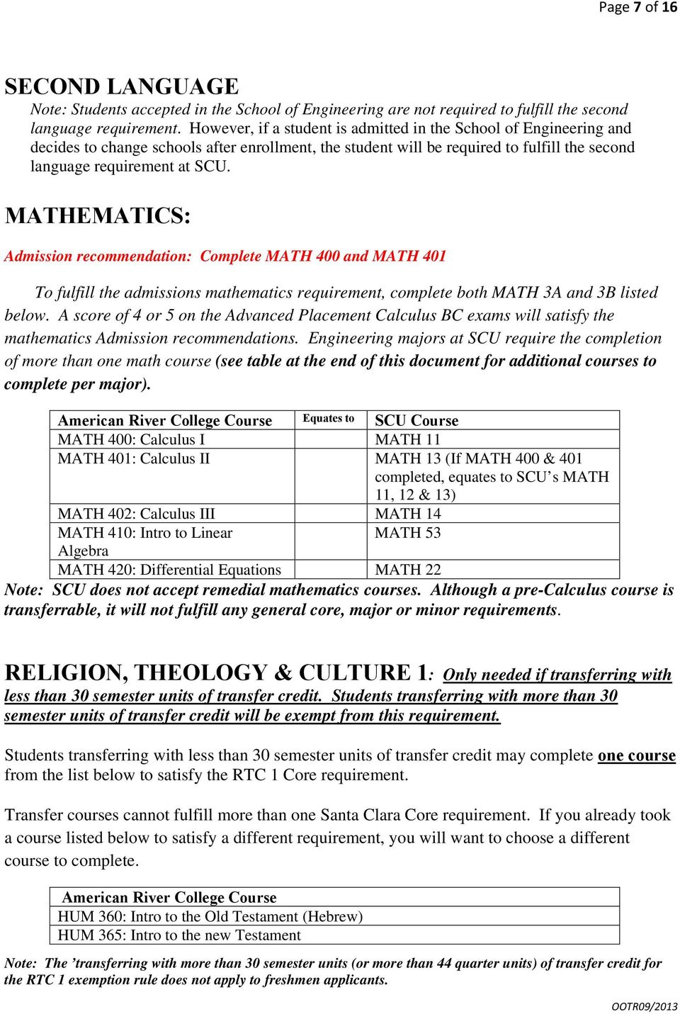 MATHEMATICS: Admission recommendation: Complete MATH 400 and MATH 401 To fulfill the admissions mathematics requirement, complete both MATH 3A and 3B listed below.