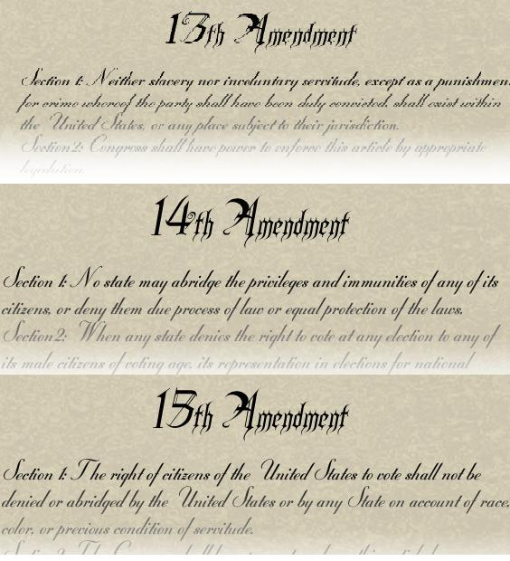 14 th Amendment Nullifies Dred Scott decision / grants citizenship to all born in US States cannot abridge privileges or immunities of citizens